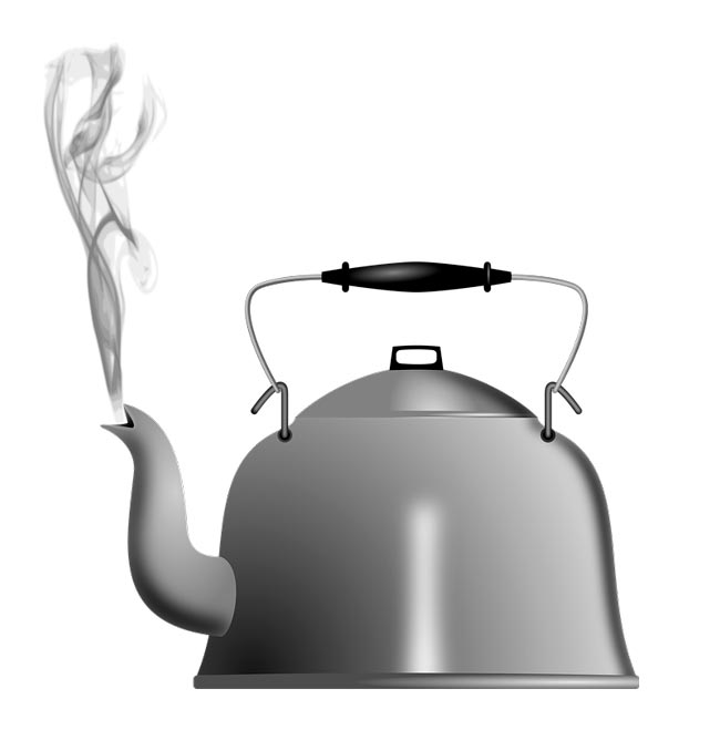 рисунок чайник кипит лишь помощью одного