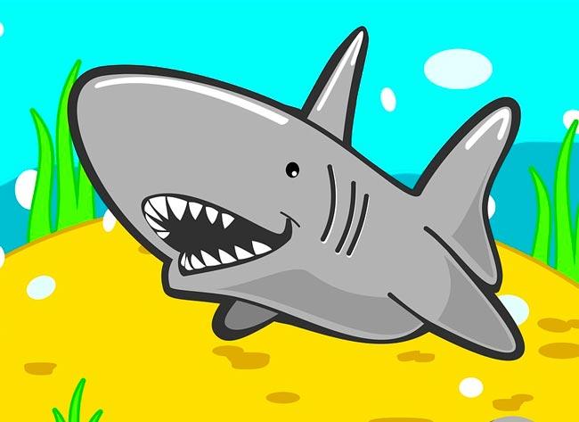 Рисунки акул смешных